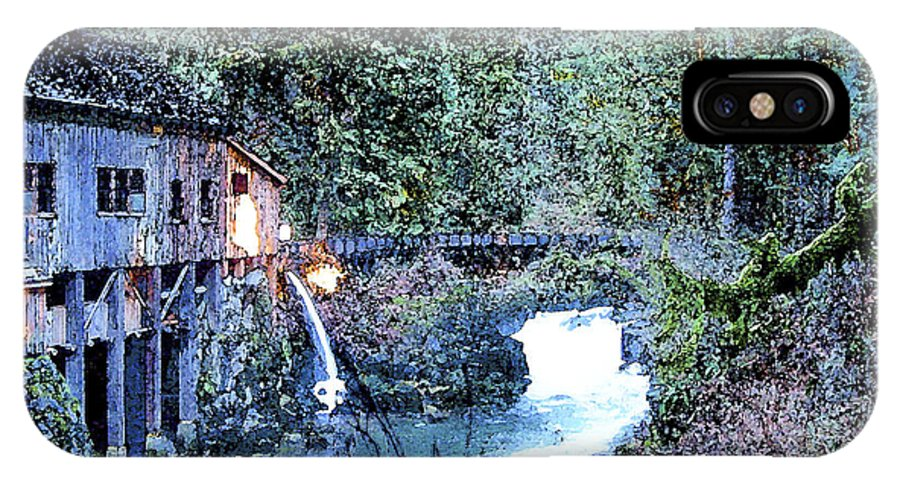 Griss Mill IPhone X Case featuring the photograph Griss Mill Watercolor by Larry Keahey