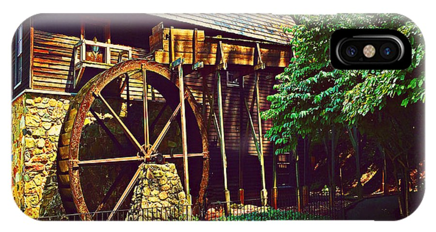 Gristmill IPhone X / XS Case featuring the photograph Gristmill - Charlottesville Virginia by Judy Palkimas