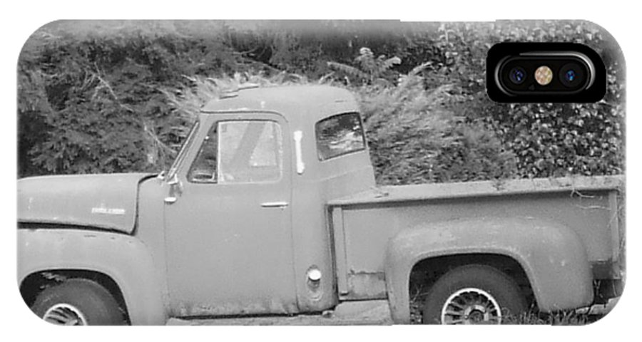 Truck IPhone X Case featuring the photograph Grounded Pickup by Pharris Art