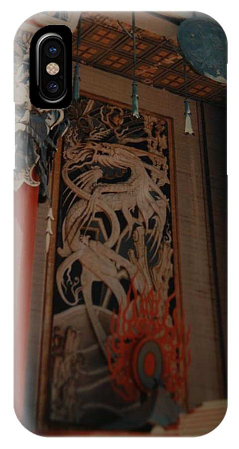 Grumanns Chinese Theater IPhone X Case featuring the photograph Grumanns Chinese Theater by Rob Hans