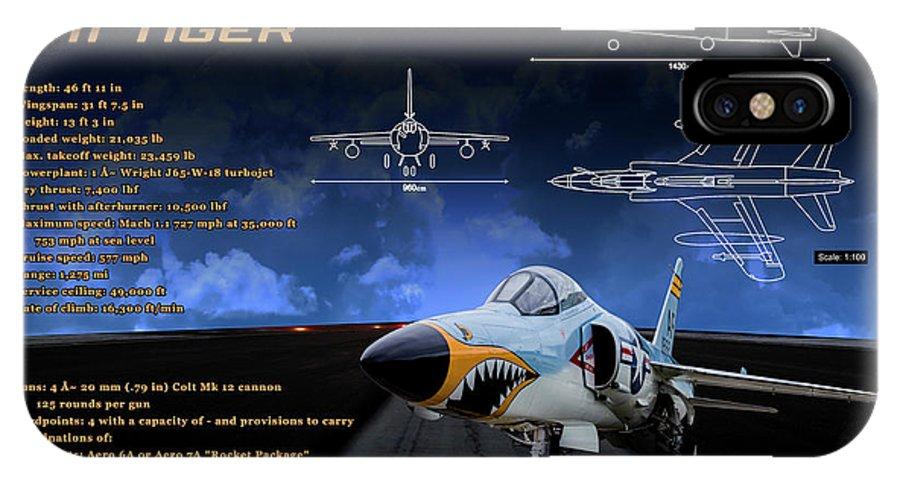 Grumman F-11 Tiger IPhone X Case featuring the photograph Grumman F-11 Tiger by Richard Hamilton