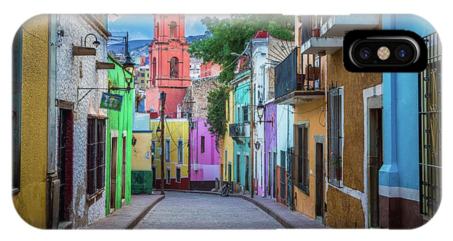 America IPhone X Case featuring the photograph Guanajuato Backstreet by Inge Johnsson