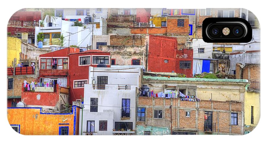 Architecture IPhone X Case featuring the photograph Guanajuato Jumble by Juli Scalzi