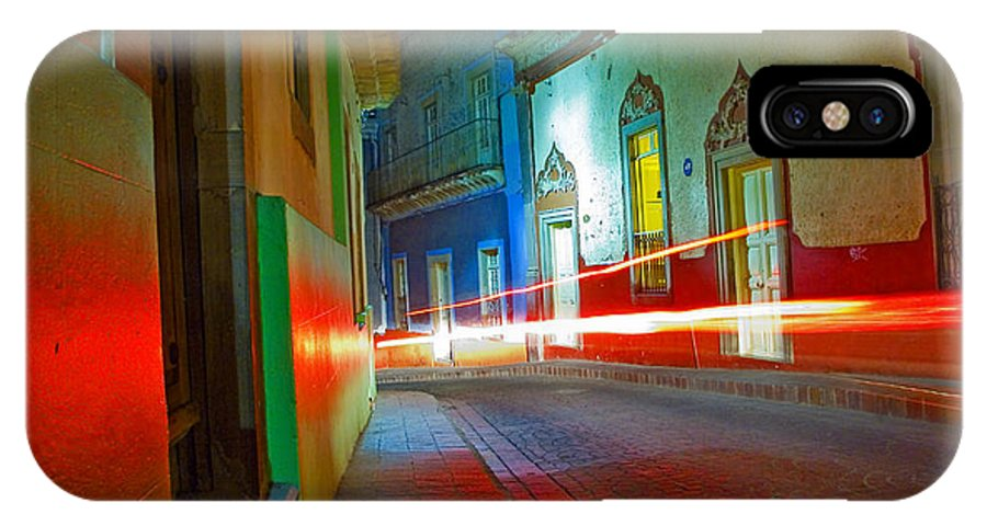 Shadow IPhone X Case featuring the photograph Guanajuato Night by Skip Hunt