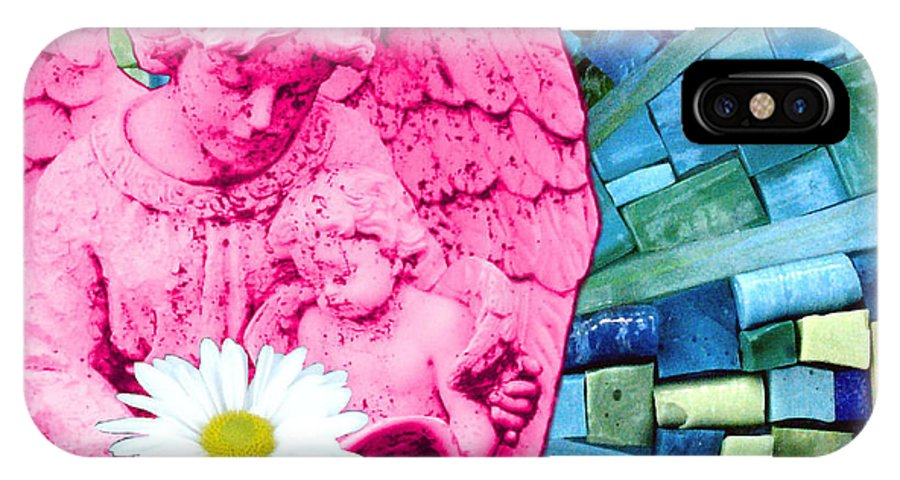 Pink IPhone X Case featuring the photograph Guardian Angel by Valerie Fuqua