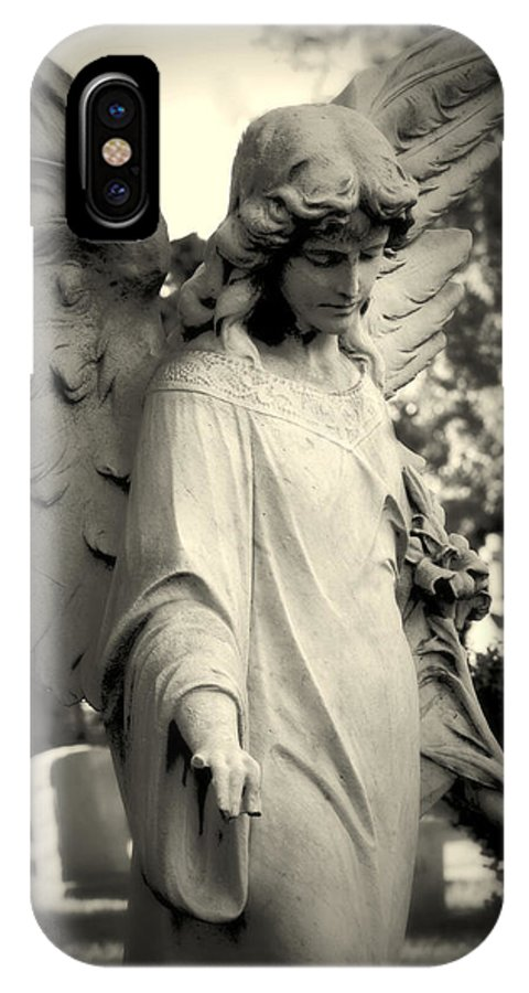 Guardian Angel IPhone X Case featuring the photograph Guardian Angel Watching Over by James DeFazio