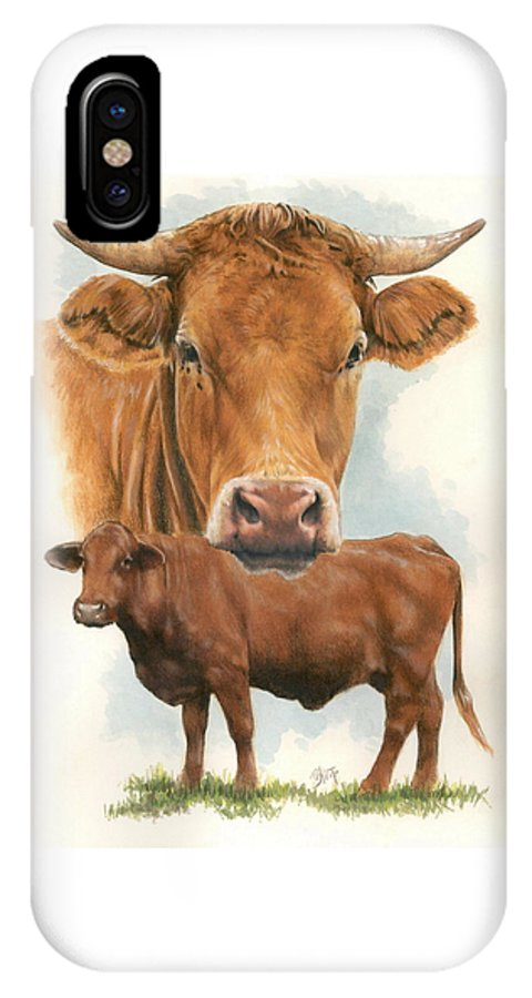 Cow IPhone Case featuring the mixed media Guernsey by Barbara Keith