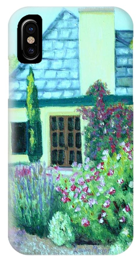 Cottage IPhone X Case featuring the painting Guest Cottage by Laurie Morgan
