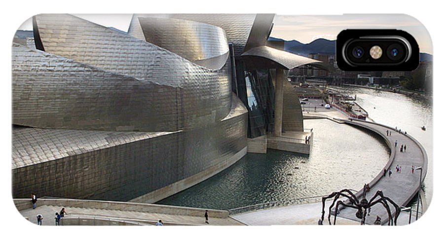 Spain IPhone X Case featuring the photograph Guggenheim Bilbao Museum by Rafa Rivas