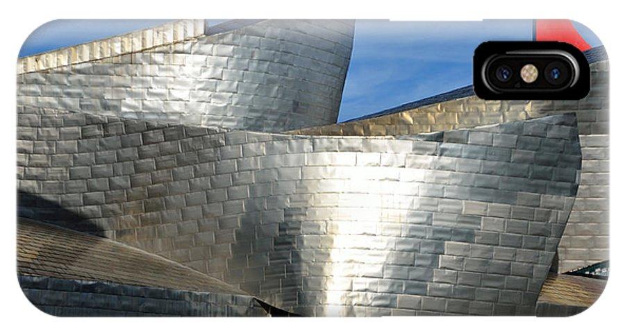 Guggenheim IPhone X / XS Case featuring the photograph Guggenheim Museum Bilbao - 5 by RicardMN Photography