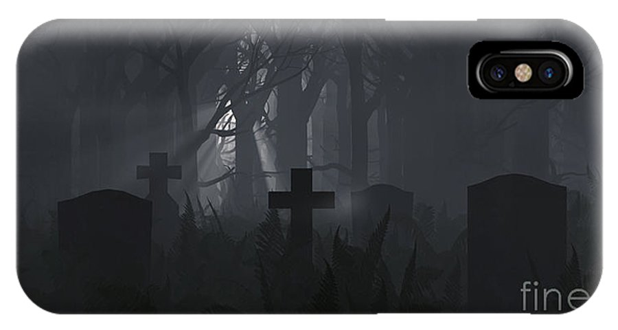 Death IPhone X Case featuring the digital art Guiding Light by Richard Rizzo