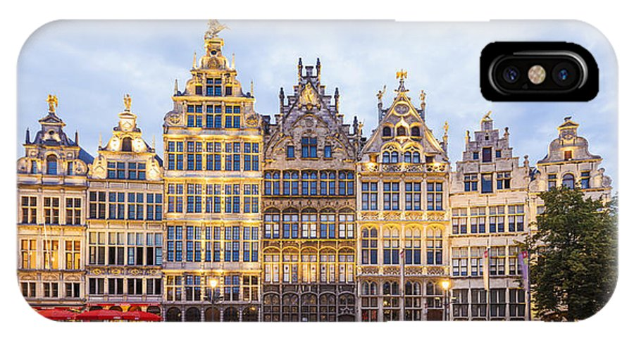 Old Town IPhone X Case featuring the photograph Guild Houses At The Grote Markt by Werner Dieterich