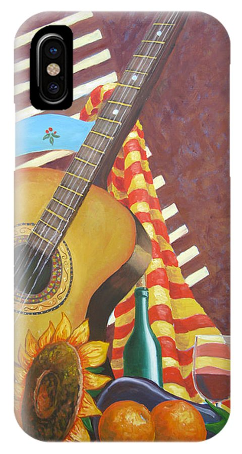 Still Life IPhone Case featuring the painting Guitar And Oranges by D T LaVercombe