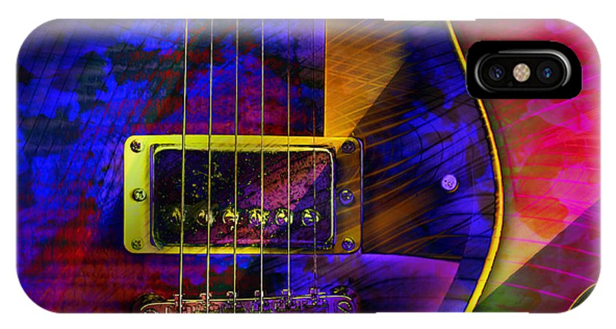 Guitars IPhone X Case featuring the digital art Guitars by Barbara Berney