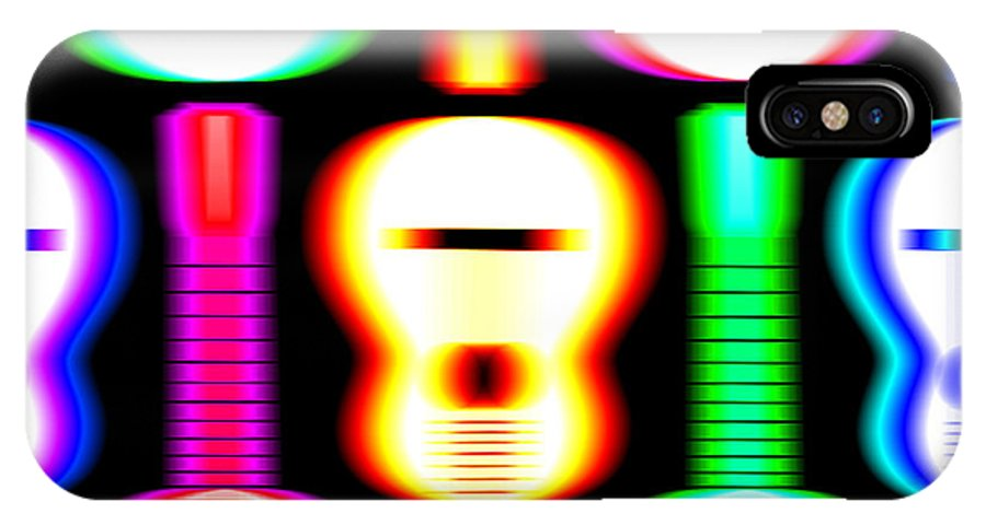 Acoustic Guitar IPhone X / XS Case featuring the digital art Guitars On Fire 4 by Andy Smy