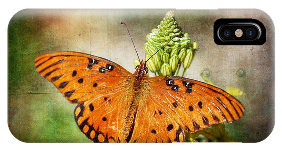 Gulf Fritillary Butterfly IPhone X Case featuring the photograph Gulf Fritillary by Saija Lehtonen