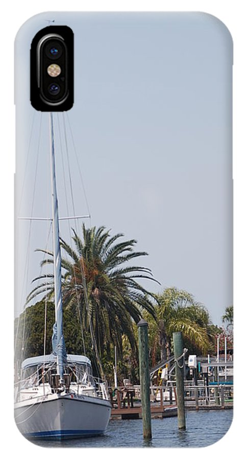 Water IPhone X Case featuring the photograph Gulf Harbor by Margaret Fortunato