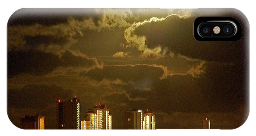 Beach IPhone X Case featuring the painting Gulf Shores Night Skys by Michael Thomas