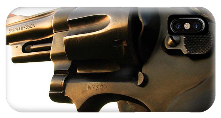 Gun IPhone X Case featuring the photograph Gun Series by Amanda Barcon