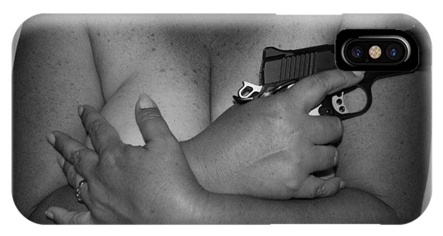 Black And White IPhone Case featuring the photograph Guns And Ammo by Rob Hans