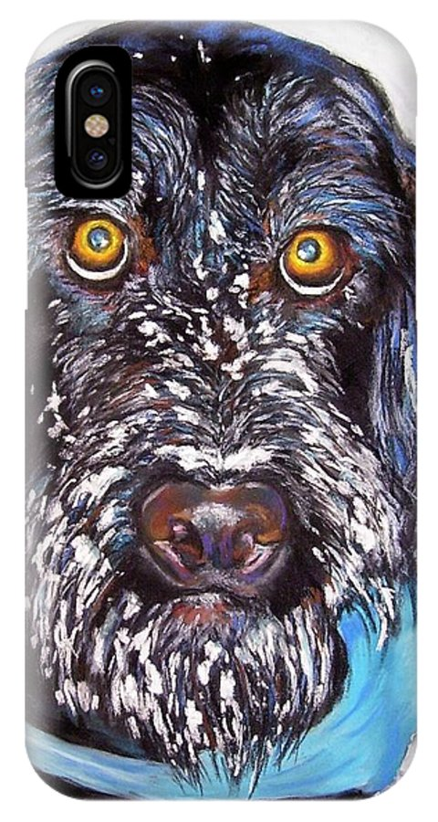 Dog IPhone X Case featuring the painting Gus by Frances Marino