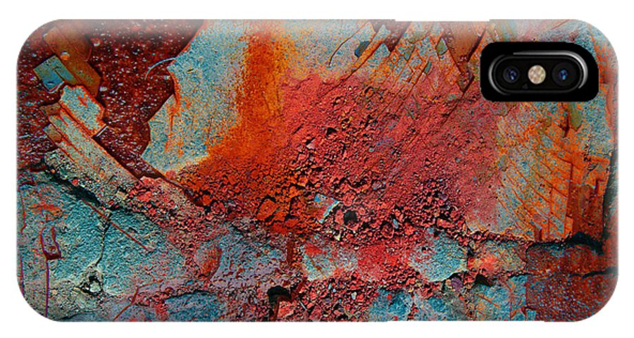 Rust IPhone X Case featuring the photograph Gutters That Speak by The Artist Project
