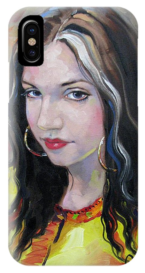Gypsy IPhone X Case featuring the painting Gypsy Girl by Jerrold Carton