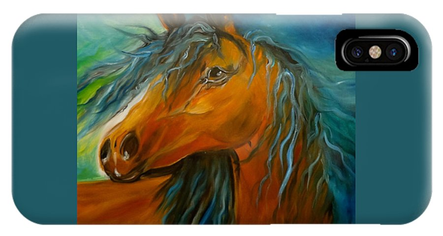 Horse Canvas Print IPhone X Case featuring the painting Gypsy Jenny Lee Discount by Jenny Lee