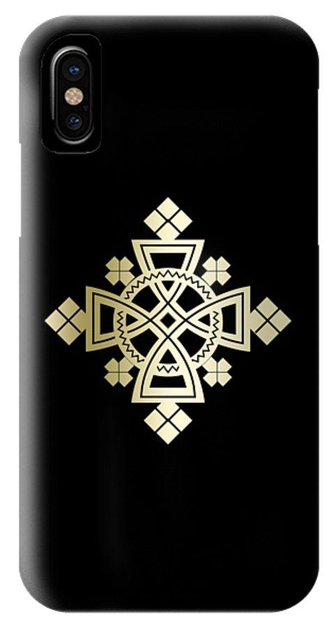 Habesha IPhone X Case featuring the digital art Habesha Holy Cross by Filmon Tesfatsion