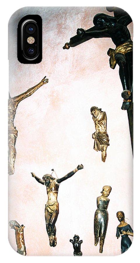 Crucifixes IPhone X Case featuring the photograph Hacienda De Los Santos by Thomas R Fletcher
