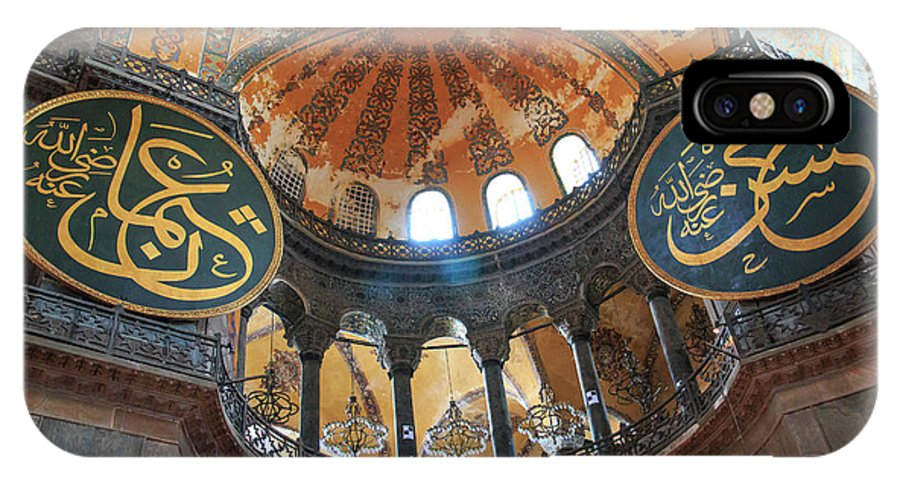 Asia IPhone X Case featuring the photograph Hagia Sophia Dome by Emily M Wilson