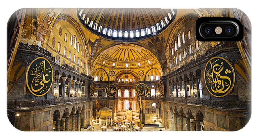Hagia IPhone X Case featuring the photograph Hagia Sophia Interior by Artur Bogacki