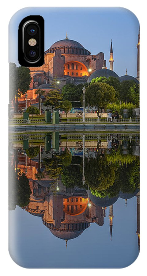 Istanbul Images IPhone X Case featuring the photograph Hagia Sophia, Istanbul, Turkey by Rob Greebon