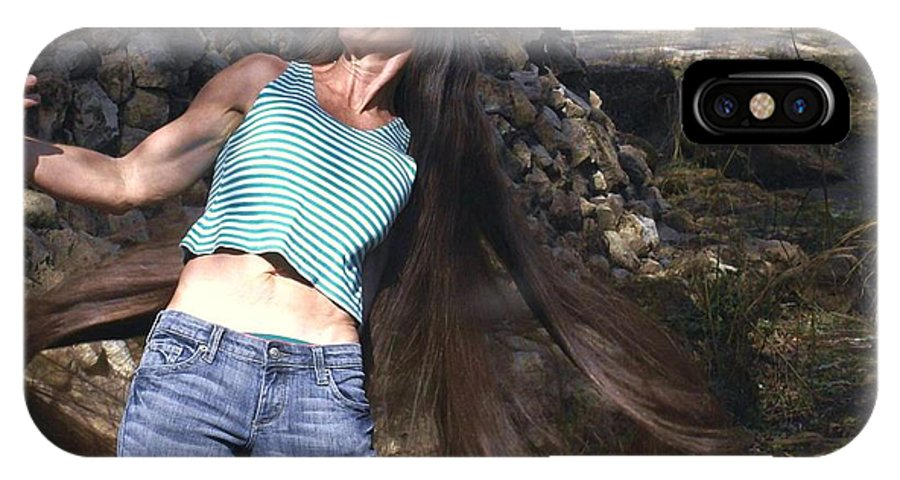 Hair IPhone X Case featuring the photograph Hair - Long Beautiful Hair-pop Song Art by Debbie May