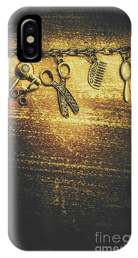 Hairdressing IPhone X Case featuring the photograph Hairdressing Beauty Salon Background by Jorgo Photography - Wall Art Gallery