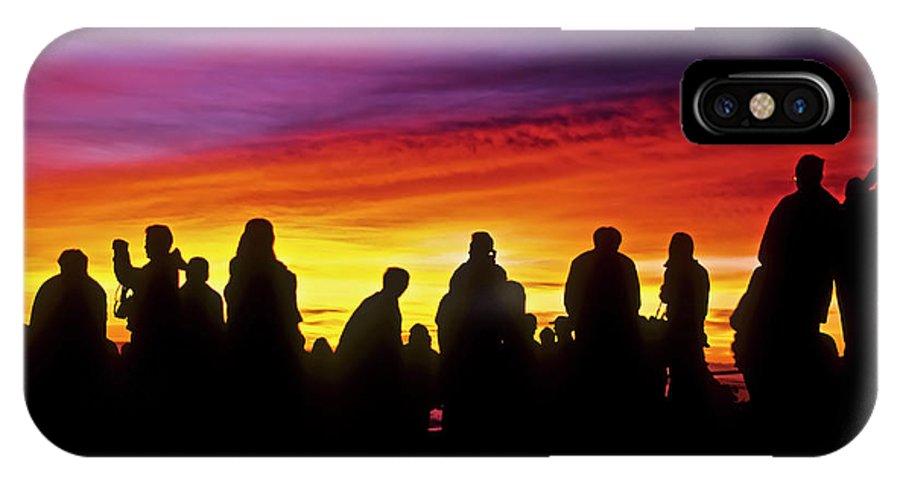 Haleakala Sunrise IPhone X Case featuring the photograph Haleakala Color Show by Jim Cazel
