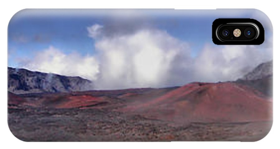 Haleakala IPhone X Case featuring the photograph Haleakala Crater Maui by Dustin K Ryan