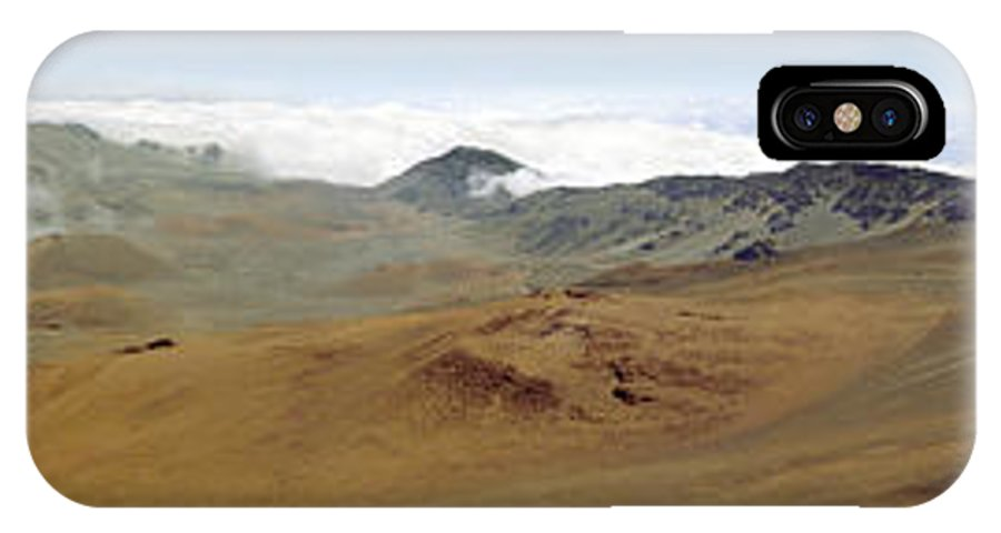Hawaii IPhone Case featuring the photograph Haleakala Crater Panorama by Peter J Sucy