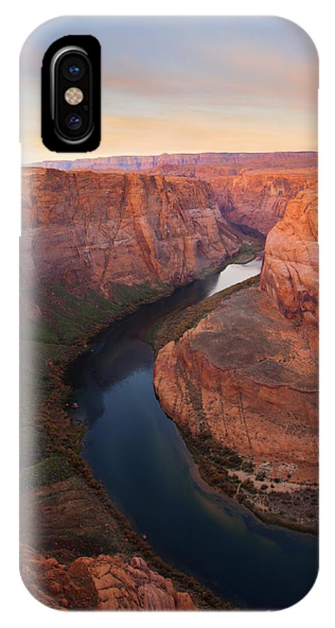 Horseshoe Bend IPhone X Case featuring the photograph Half Bend Sunrise by Mike Dawson