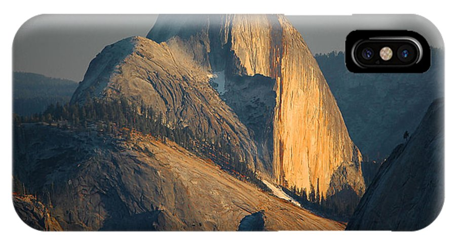 Yosemite IPhone X Case featuring the photograph Half Dome At Sunset - Yosemite by Stephen Vecchiotti