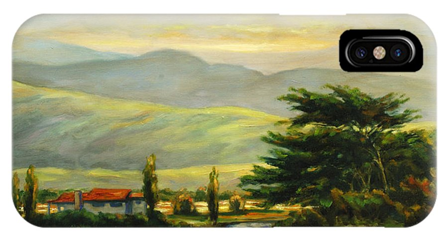 Trees IPhone Case featuring the painting Half Moon Bay by Rick Nederlof