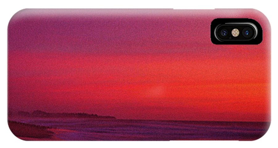 Half Moon Bay IPhone X Case featuring the photograph Half Moon Bay Sunset by Vicky Brago-Mitchell