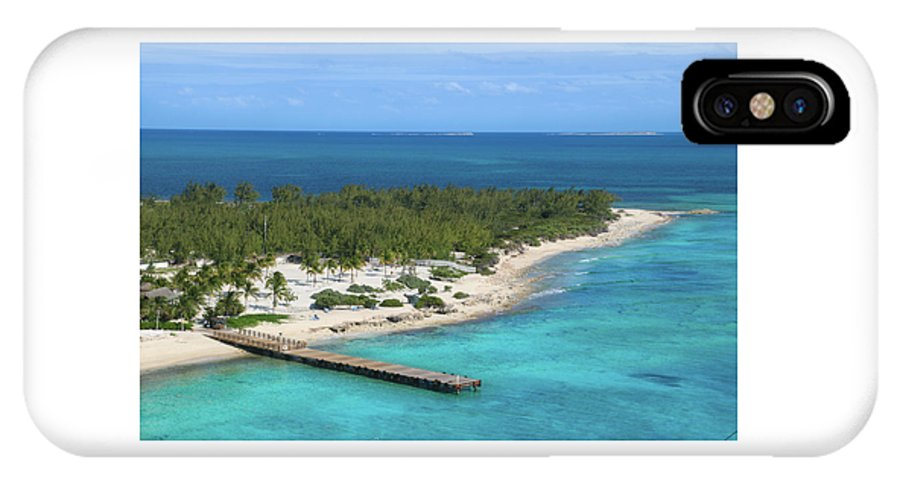 Half Moon Cay IPhone X / XS Case featuring the photograph Half Moon Cay by Debra Farrey