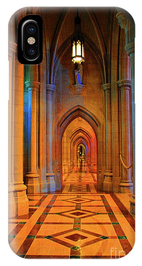 Washington IPhone X Case featuring the photograph Hall Of The Cathedral by Jost Houk