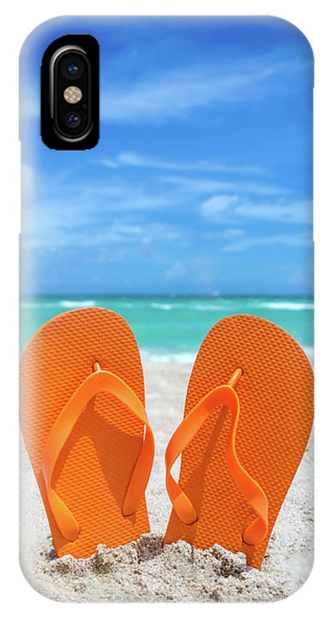 Halloween Flip Flops IPhone X Case featuring the photograph Halloween Flip Flops by Elena Chukhlebova