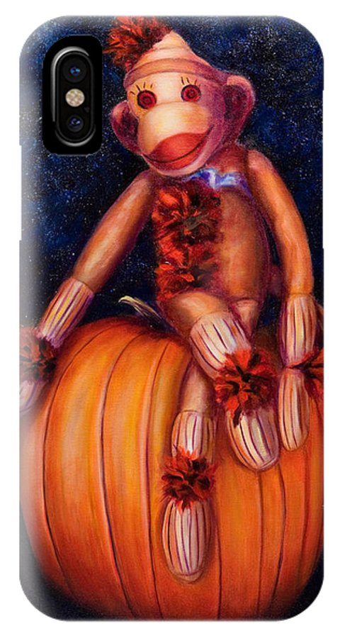 Pumpkin IPhone Case featuring the painting Halloween by Shannon Grissom