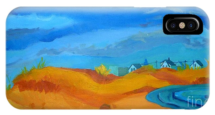 Ocean IPhone X Case featuring the painting Hampton Dunes by Debra Bretton Robinson