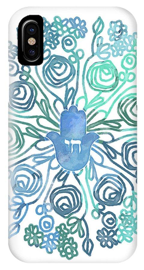 sale retailer 1f0e7 81872 Hamsa Mandala 1- Art By Linda Woods IPhone X Case