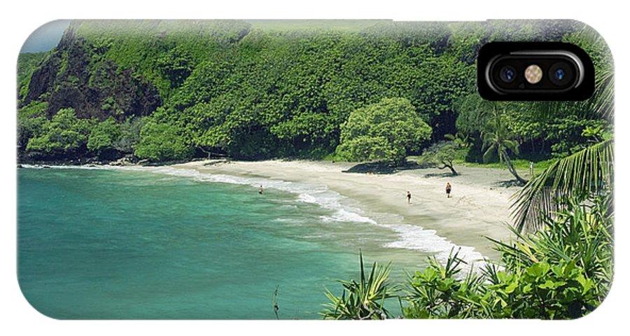 Beach Art IPhone X Case featuring the photograph Hana Coast, Hamoa Beach by Greg Vaughn - Printscapes