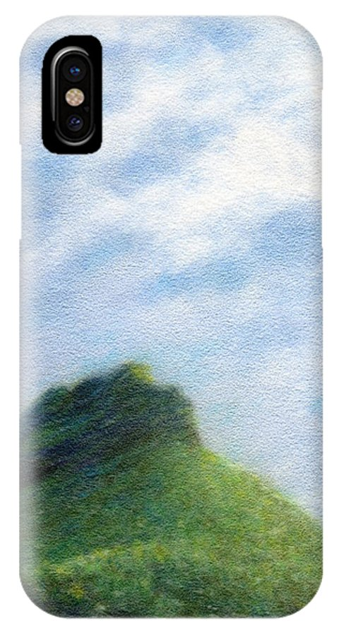 Rainbow Colors Pastel IPhone X Case featuring the painting Hanakapia Beach View by Kenneth Grzesik